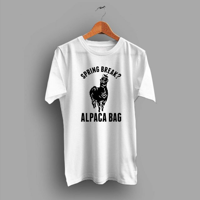 Cheap Spring Break Alpaca Bag Summer T Shirt