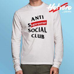 Cheap Supreme Anti Social Club Long Sleeve Shirt