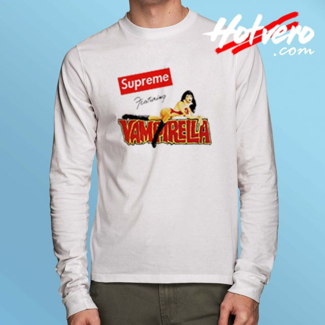 Cheap Supreme Featuring Vampirella Long Sleeve Shirt