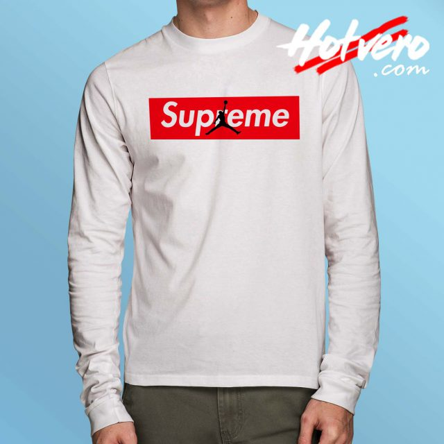 Cheap Supreme Jordan Long Sleeve Shirt
