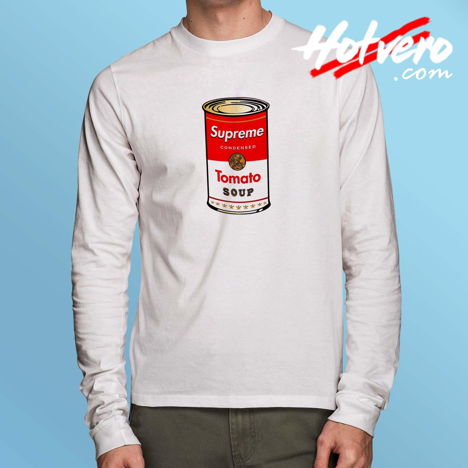 Cheap Supreme Tomato Soup Long Sleeve Shirt