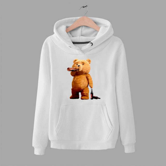 Cheap Ted Teddy Bong Stoner Pot Pothead Unisex Hoodie