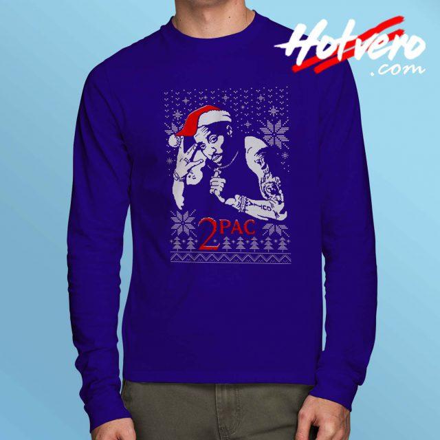 Cheap Tu Pac Ugly Christmas Long Sleeve Shirt