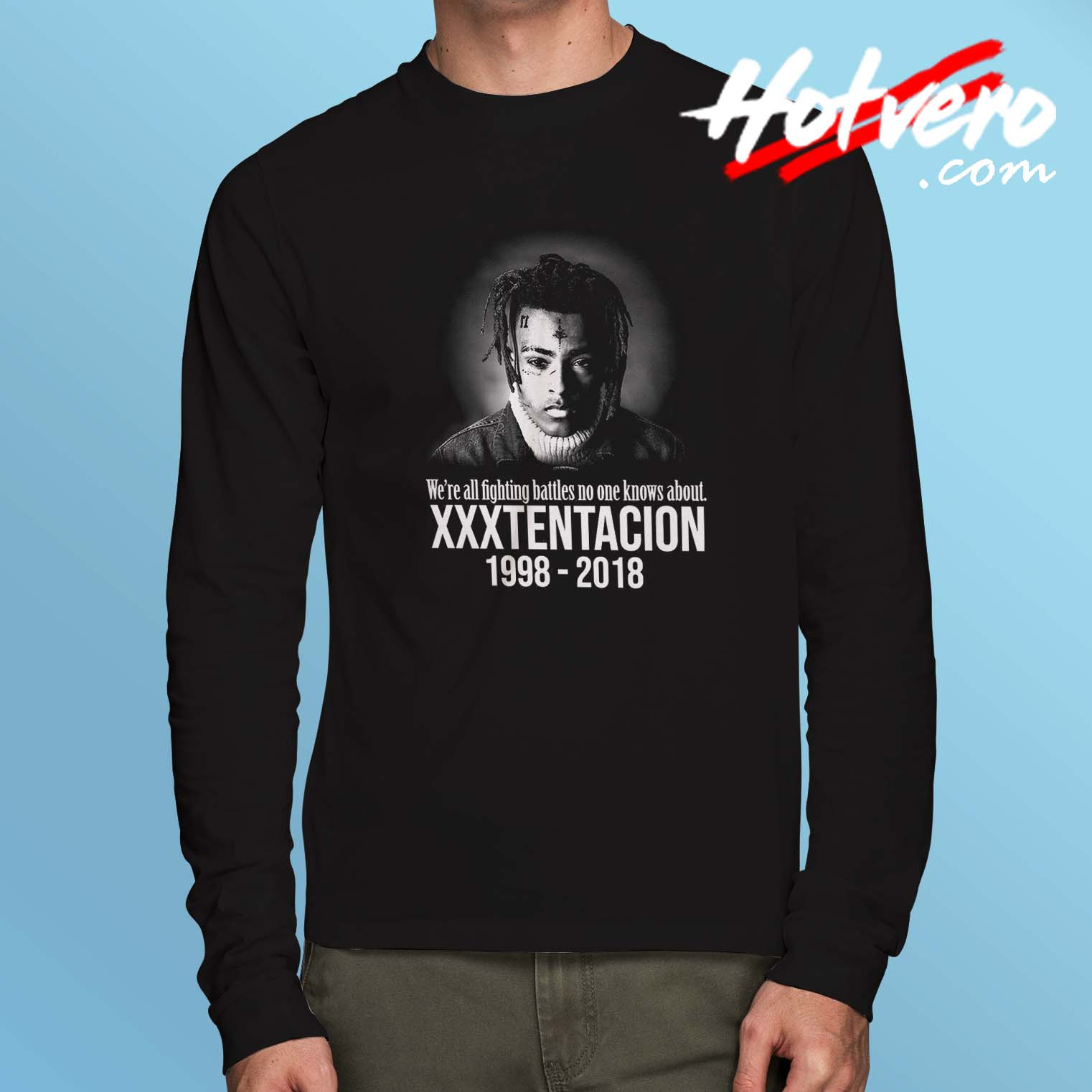 Cheap XXXTentacion Memories Long Sleeve Shirt