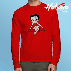 Classic Betty Boop Supreme Parody Long Sleeve Shirt