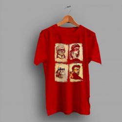 Comedy TMNT Scientists Leonardo Raphael Donatello Michelangelo Geek T Shirt