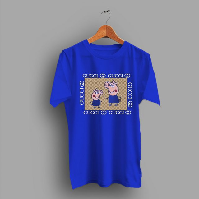 Cool Cute Peppa Pig Gucci Funny T Shirt