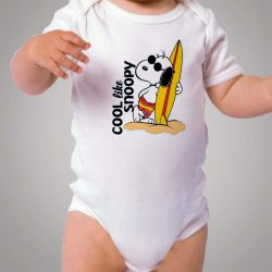 Cool Like Snoopy Surfing Baby Onesie Bodysuit