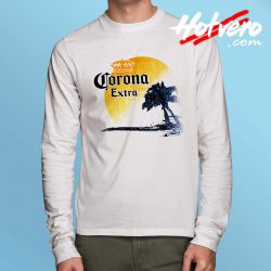 Corona Extra Beer Palm Beach Long Sleeve T Shirt