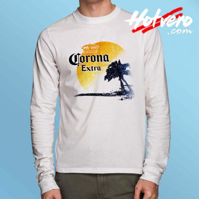 Corona Extra Beer Palm Beach Long Sleeve T Shirt