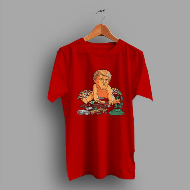 Cracking A Smile Baby Trump Funny T Shirt