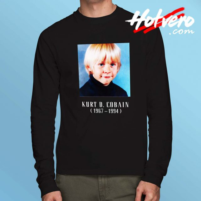 Cute Kurt Cobain Child Long Sleeve T Shirt