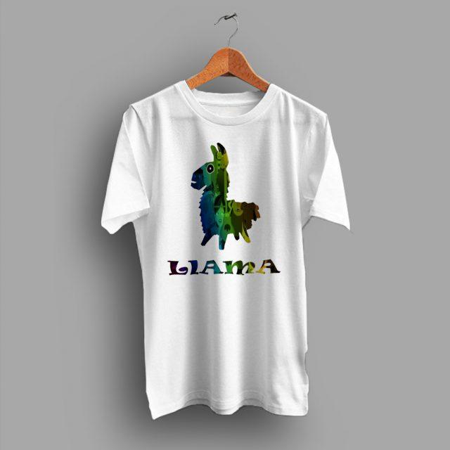 Cute Llama Fortnite Game T Shirt