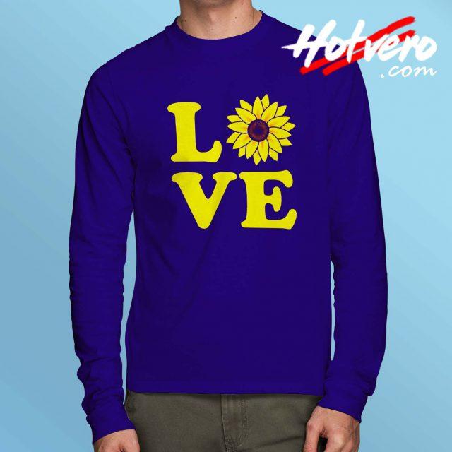 Cute Love Sunflower Long Sleeve T Shirt