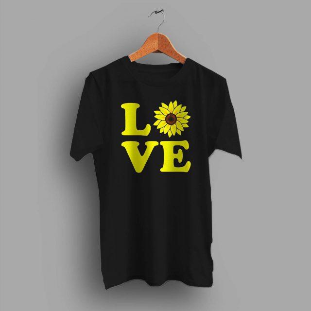 Cute Love Sunflower Summer T Shirt