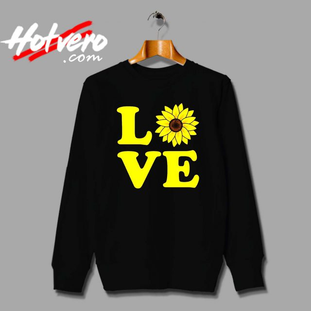 Cute Love Sunflower Unisex Sweatshirt