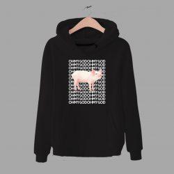 Cute Pig Oh My God Funny Unisex Hoodie