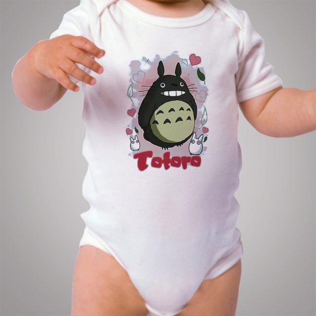 Cute Totoro Love Studio Ghibli Baby Onesie