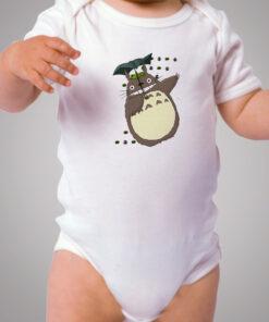 Cute Totoro Umbrella Baby Onesie Bodysuit
