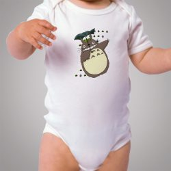 Cute Totoro Umbrella Baby Onesie Bodysuit
