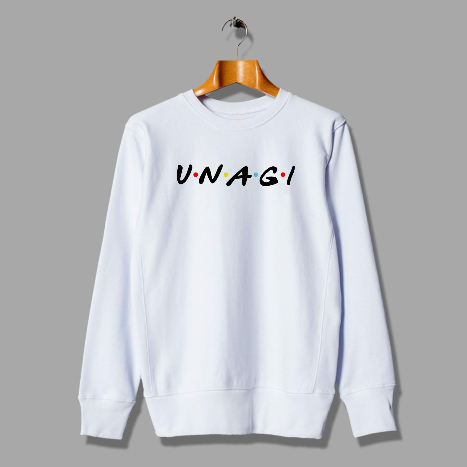 d556ea9b5fd Cute Unagi Friends TV Show Unisex Sweatshirt Parody - Hotvero