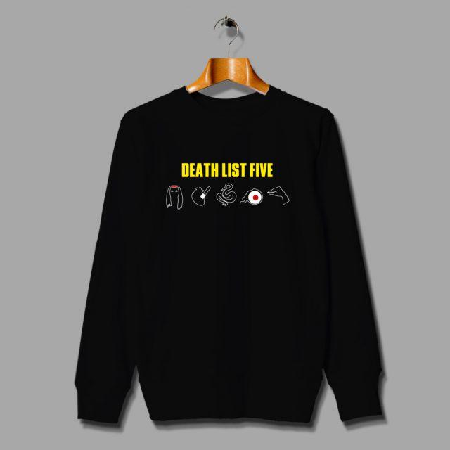 Death List Five Kill Bill Vintage Movie Sweatshirt