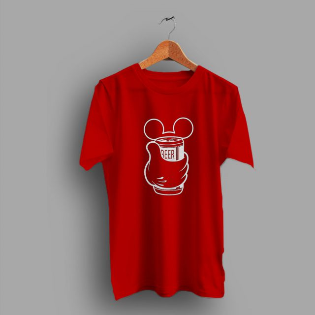 Disney Drink Mickey Beer T Shirt