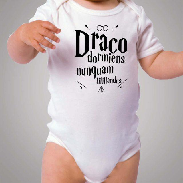 Draco Dormiens Harry Potter Quote Baby Onesie