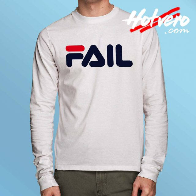 Fail Fila Parody Long Sleeve T Shirt