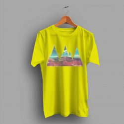 Feel The Hiking Abstrack Mountains T Shirt