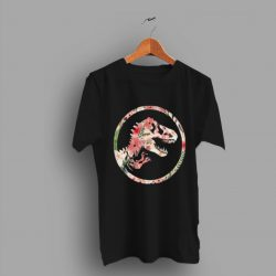Floral Dinosaurus Jurassic Park Movie T Shirt