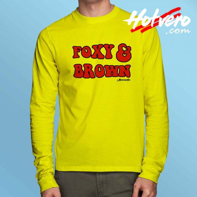Foxy Brown Vintage Long Sleeve Shirt