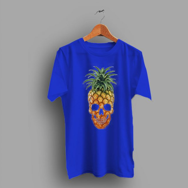 Fruit Pineapple Skull T Shirt