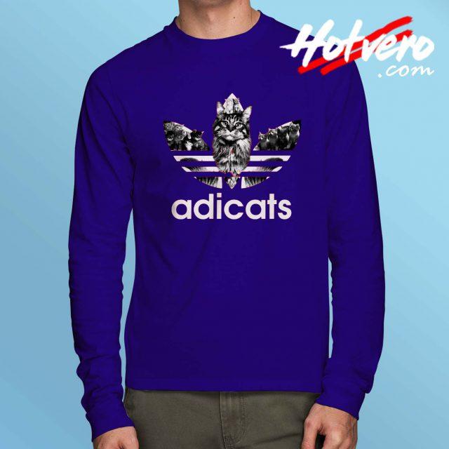 Funny Adicats Adidas Parody Long Sleeve T Shirt