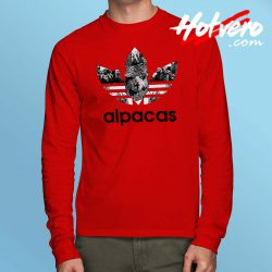 Funny Alpacas Adidas Parody Long Sleeve Shirt
