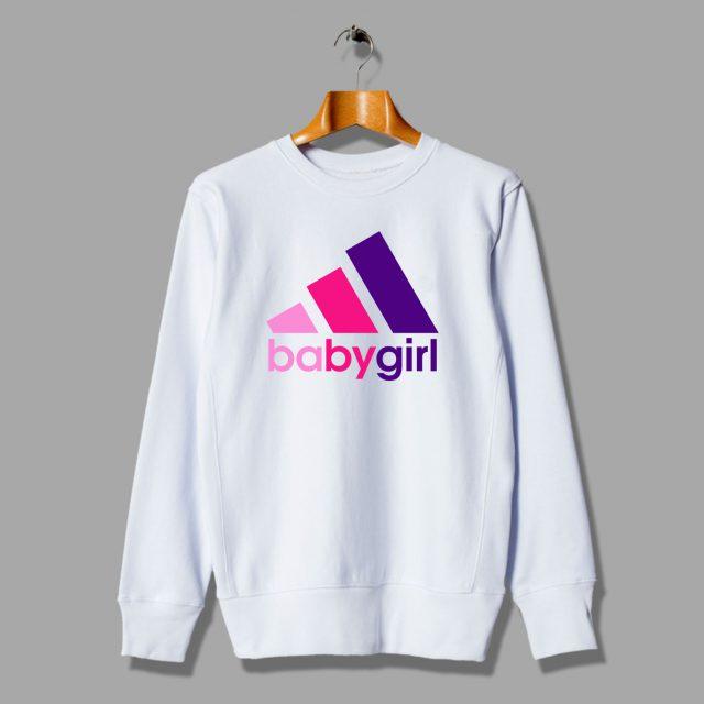 Funny Babygirl Adidas Parody Inspired Sweatshirt