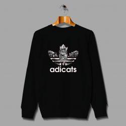 Funny Cat Adidas Inspired Parody Sweatshirt