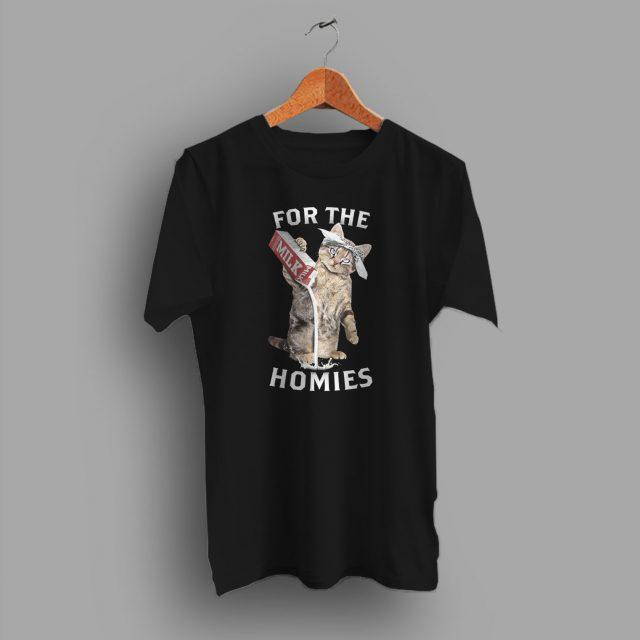 Funny Cat Gangsta Parody T Shirt Homies Style