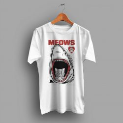 Funny Cat Jaws Parody T Shirt For Men and Women