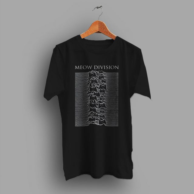 Funny Cat Meow Joy Division Inspired T Shirt