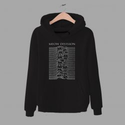 Funny Cat Meow Joy Division Parody Unisex Hoodie