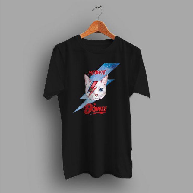 Funny Meowie Cat David Bowie Parody T Shirt