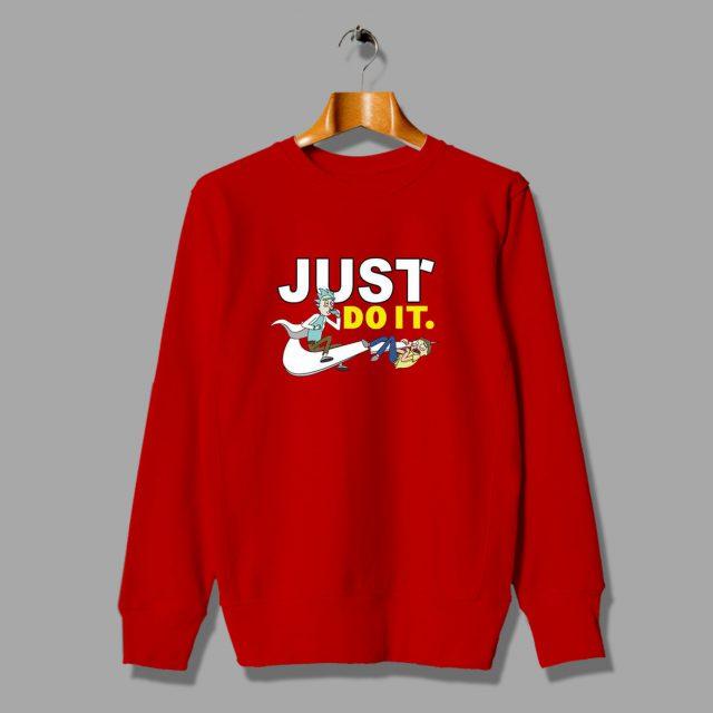 Funny Pickle Rick Morty Just Do It Parody Sweatshirt