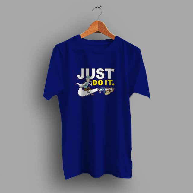 Funny Rick Morty Just Do It Parody T Shirt