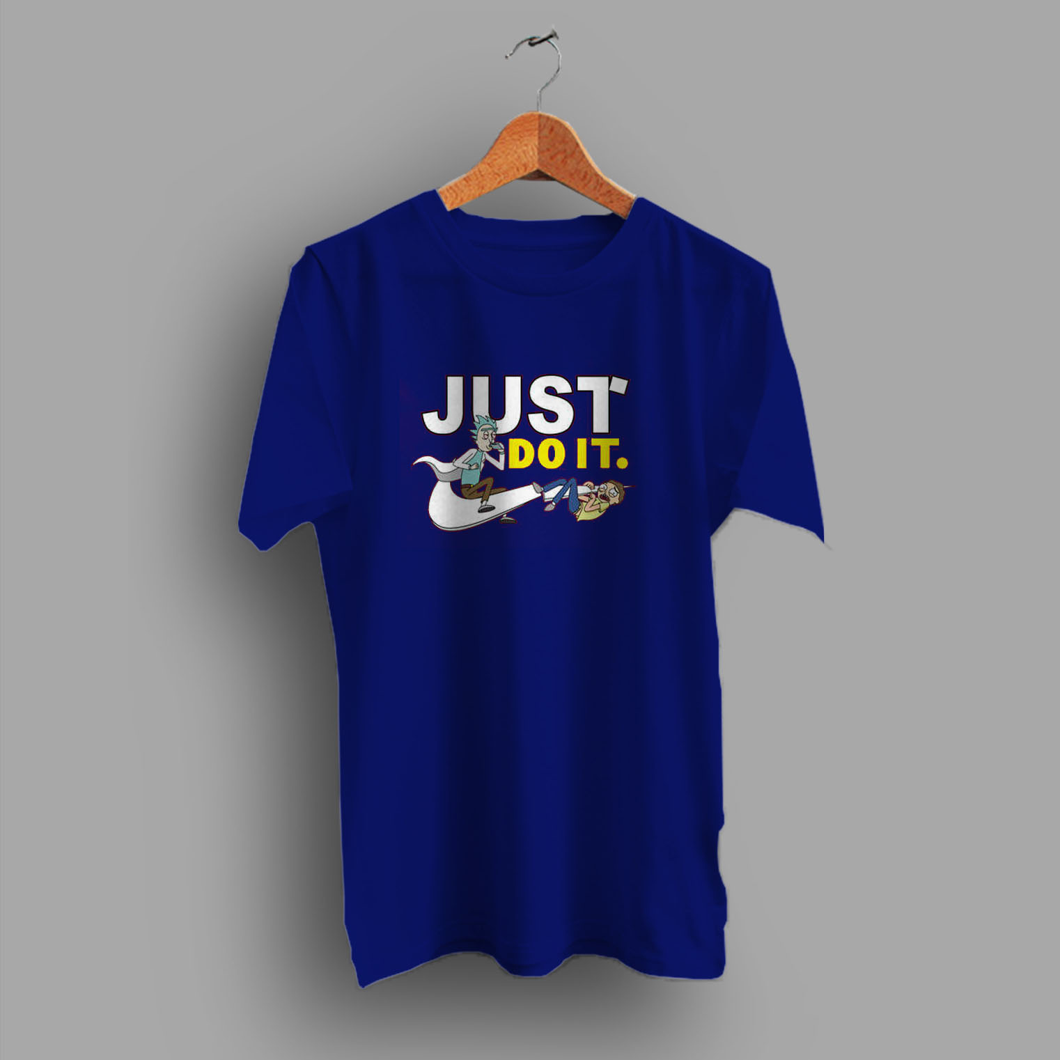 1a3a8bd55 Funny Rick Morty Just Do It Parody T Shirt - Hotvero