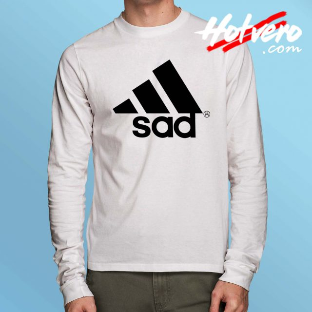 Funny Sad Adidas Parody Long Sleeve Shirt