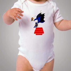 Funny Snoopy Batman Parody Baby Onesie Bodysuit