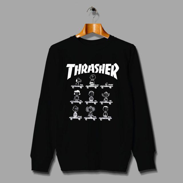 Funny Snoopy Peanut All Character Skateboard Sweatshirt