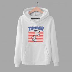 Funny Snoopy Skateboard US Flag Parody Hoodie