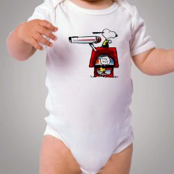 Funny Snoopy Star Trek Baby Onesie Bodysuit